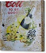 Vintage Cott Fruit Juice Sign Canvas Print