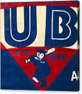 Vintage Cubs Spring Training Sign Canvas Print