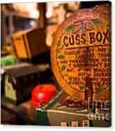 Vintage Cuss Box Canvas Print