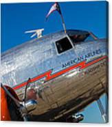 Vintage Dc-3 Airplane Canvas Print