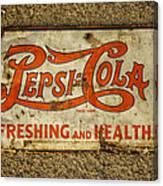 Vintage Drink Pepsi Cola 5 Cents Dsc07157 Canvas Print
