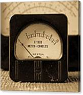 Vintage Electrical Meters Canvas Print
