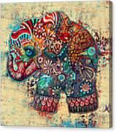 Vintage Elephant Canvas Print