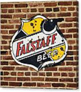 Vintage Falstaff Beer Shield Dsc07192 Canvas Print