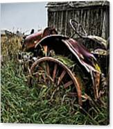 Vintage Farm Tractor Color Canvas Print