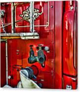 Vintage Fire Truck Canvas Print
