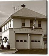 Congers, New York - Vintage Firehouse Canvas Print