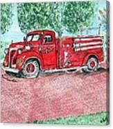 Vintage Firetruck Canvas Print
