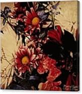 Vintage Floral Beauty  Canvas Print
