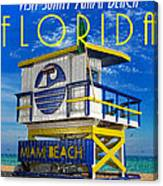 Vintage Florida Travel Style Artwork Canvas Print