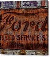 Vintage Ford Authorized Service Sign Canvas Print