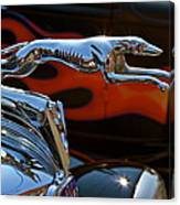 Vintage Ford Lincoln Hood Ornament Canvas Print