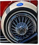 Vintage 1931 Ford Phaeton Spare Tire Canvas Print