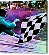 Vintage Formula 1 Race Checkered Flag  Canvas Print
