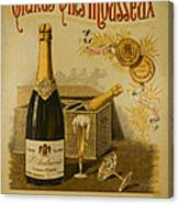 Vintage French Poster Andrieux Wine Canvas Print