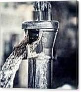 Vintage Ft. Worth Stockyards Water Pump Canvas Print