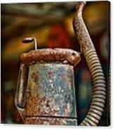 Vintage Garage Oil Can Canvas Print