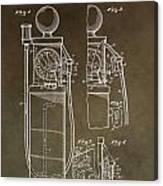 Vintage Gas Pump Patent Canvas Print