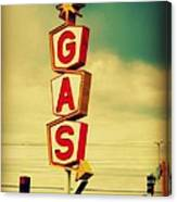 Vintage Gas Sign Canvas Print