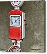 Vintage Gas Station Air Pump 2 Canvas Print