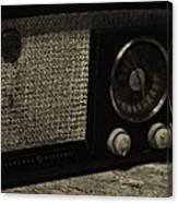 Vintage Ge Radio Canvas Print