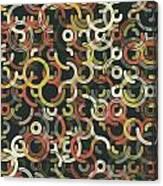 Vintage Geometric Circle Segment Pattern Canvas Print