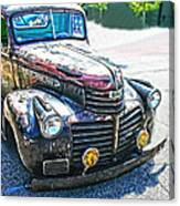 Vintage Gm Truck Frontal Hdr Canvas Print