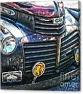 Vintage Gm Truck Hdr 2 Grill Art Canvas Print