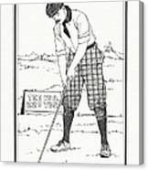 Vintage Golfer 1900 Canvas Print