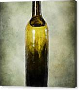 Vintage Green Glass Bottle Canvas Print