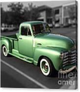 Vintage Green Chevy 3100 Truck Canvas Print