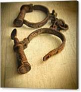 Vintage Handcuffs Canvas Print