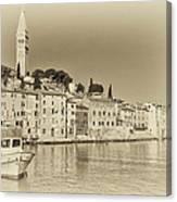 Vintage Harbor Canvas Print