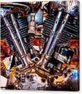 Vintage Harley Knucklehead Canvas Print