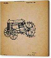 Vintage Henry Ford Tractor Patent Canvas Print