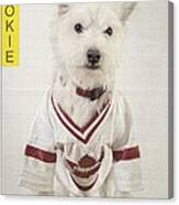 Vintage Hockey Rookie Player Card Canvas Print