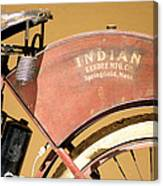 Vintage Indian Bike Canvas Print
