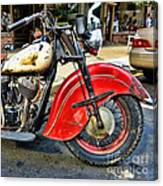 Vintage Indian Motorcycle - Live To Ride Canvas Print