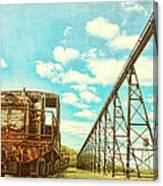 Vintage Industrial Postcard Canvas Print