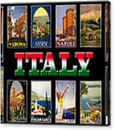 Vintage Italy Travel Posters Canvas Print