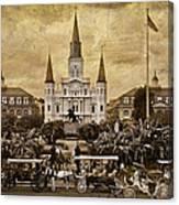 Vintage Jackson Square Canvas Print