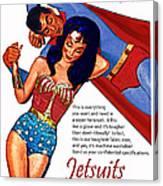 Vintage Jetsuit Advertisement Canvas Print