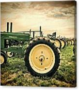 Vintage John Deere Tractors Canvas Print