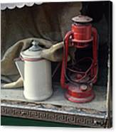 Vintage Kerosene Lamp And Vintage Canvas Print