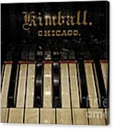 Vintage Kimball Piano Canvas Print