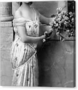 Vintage Lady I  Bw Limited Sizes Canvas Print