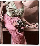 Vintage Lady Rose  Limited Sizes Canvas Print