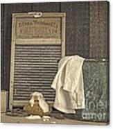 Vintage Laundry Room II By Edward M Fielding Canvas Print