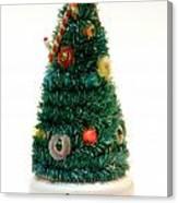 Vintage Lighted Christmas Tree Decoration Canvas Print