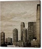 Vintage Manhattan Skyline Canvas Print